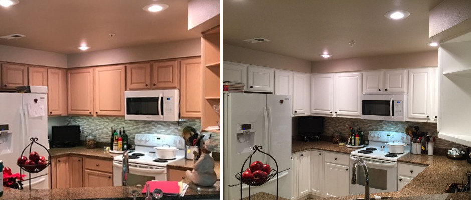 Kitchen cabinets - Before / After